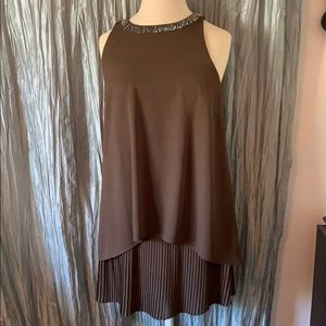 ASTR Brown Layered Sequin Cocktail Dress NWT